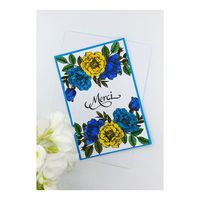 Thank you card with flowers, ideal to say thanks to a friend, a colleague, a teacher, thank you wedding card, thank you card business �'�6.75