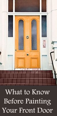 A new coat of paint on your front door can give your home freshness, and change the mood or look�€� Read more »