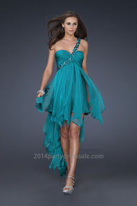 Eggplant High Low Midnight Blue One Shoulder Sweetheart Prom Dress  http://www.2014partydresssale.com/