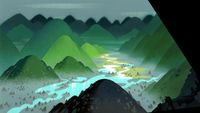 Samurai Jack (2001) acrylic background paintings by the great Scott Wills