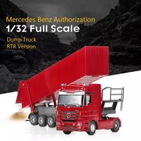 RUICHUANG QY1101C 1/32 2.4G 6CH Rc Car Dump Truck Electric Mercedes RTR Model