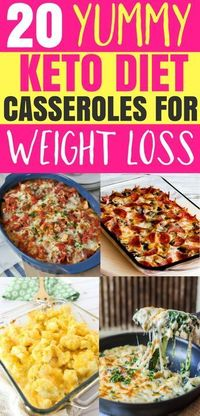 These easy keto casserole recipes are the best and great for weight loss! You are going love these yummy low carb ketogenic casserole dinner recipes, you'll fee