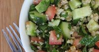 Jennifer Aniston's Favorite Quinoa Salad by popsugar: Detoxifying parsley lays the base of the greens, while a scoop of quinoa and diced avocado provide over 60 percent of your daily recommended fiber. With hydrating cucumbers and refreshing tomatoes ...