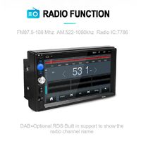 7 Inch 2 Din Quad Core Android 8.0 Car MP5 DVD Player WIFI 3G GPS Stereo Player Bluetooth Radio Indash