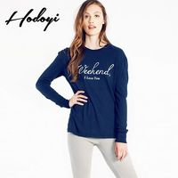 School Style Must-have Oversized Vogue Sweet Printed Scoop Neck Alphabet Fall 9/10 Sleeves Hoodie - Bonny YZOZO Boutique Store