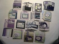 "79 cards from one Memory Box ""Viola"" 6x6 paper pad. Pretty!"