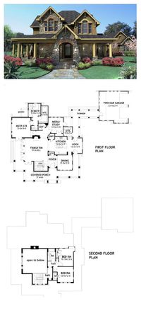 Tuscan House Plan 75106   Total Living Area: 2552 sq. ft., 3 bedrooms 2.5 bathrooms. #tuscanstyle #houseplan