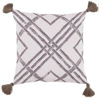 Bamboo Taupe Pillow with Tassels $200.00