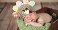 Newborn Turkey Hat Thanksgiving Baby Hat. Love it! We need a newborn Thanksgiving outfit.