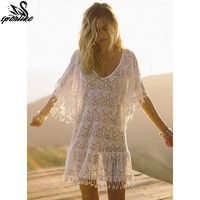 White Crochet Sexy Beach Cover up $27.42