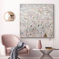 Silver leaf Acrylic abstract Paintings On Canvas original art flower painting Large texture wall pictures home decor cuadros abstractos $140.00