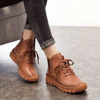 Casual Low Round Toe Leather Winter Shoes $66.99