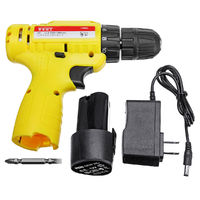 12V Power Drills 18 Gear Cordless Electric Drill Lithium Battery LED Lighting Driver Tool