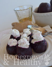 Goat Cheese Stuffed Beets with Honey and Ginger