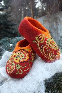 IrinaU has only been felting since October 2011...I bought a pair of these and they are thick and very well felted and the designs exquisite!