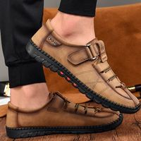 Casual Genuine Leather Mens Slip-on Loafers Moccasins Shoes