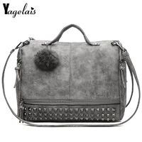 2018 Ladies Designer Handbags PU Shoulder Bags Tote with Fur Ball Soft Women Crossbody $39.80