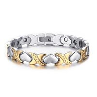 Width: 9.5mm Length 20.5cm Weight: 31.2g High Polished Stainless Steel Embedded Magnets Hidden Secure Clasp Elegant Style Easy Adjustable Size