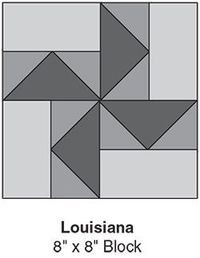Louisiana, part of Quilters Worlds FREE Quilt Block of the Month. Get the download here: http://www.quiltersworld... Like the Quilters World Facebook page so you dont miss a single monthly installment: http://www.facebook.com/...