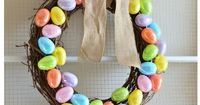 Plastic Easter Wreath Tutorial. Adorable and easy!