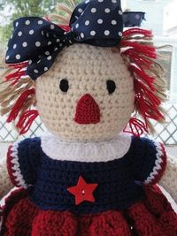 Cute CROCHET PATTERN Doll or Americana Home Decor by CuteCrochetShop