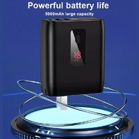 USAMS EU/US Foldable Plug 2 in 1 USB Charger Power Bank 5000mah Auto Power Off Fast Charging Power Bank
