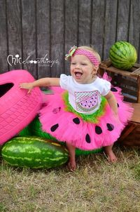 Watermelon Birthday Tutu, First Birthday baby tutu, Photo Prop Tutu, Childrens Toddler tutu, Birthday, hot pink lime green watermelon tutu on Etsy, $38.00