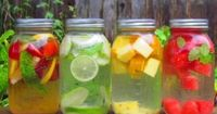 We do this at work; it's so refreshing and better than soda - make your own healthy flavored waters.