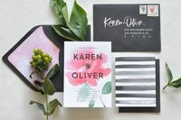 Watercolor Calligraphy Wedding Invitations Julie Song Ink Modern