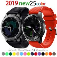 22mm watch band For Galaxy watch 46mm 42mm Samsung gear S3 Frontier active 2 strap huawei watch GT strap amazfit bip 20mm 44 40 $9.99