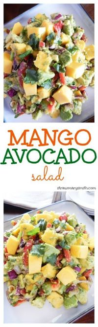 It takes two to mango! This week's Cooking for Twosday is a juicy Mango Avocado Salad that doubles as both a filling lunch for two and a colorful side dish for