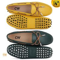 Leather Moccasin Loafers for Women CW314029