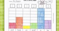 "Roll a sight word graphing game: the dice are soft cubes that have clear pockets to put cards in. They can be used for so many things. The possibilities are endless! This is a game where kids work with a partner and record the word that shows ""face-u..."