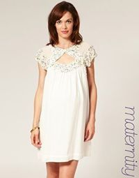 French Connection Maternity Embellished Button Detail Dress