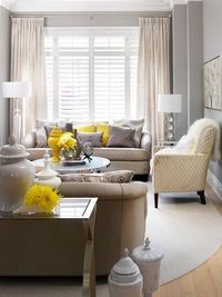 Cozy Gray Living Room - sort of what I have in mind...