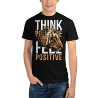 Men's Streetwear T Shirt Recycled Organic T Shirts Ethical Tees Think Positive Feel Positive $33.50