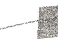 1.50mm Cable Chain, 18K Solid White Gold Chain, Strong chain, Necklace chain, Pendant chain, Custom length $590.00