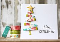 Whooo hooo ! My holiday has now started ! Bring on the festivities ! I'm here to quickly show you another card I made with the gorgeous Kelly Purkey washi tapes