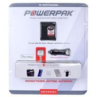 Technocel Universal USB/Car/Travel PowerPak Charger w/Built-in Battery & 11 Adapter Tips $28.62