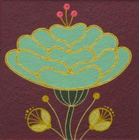 Mary O'Malley: Botanical Study #15 | Gardens & Bouquets Series | Gouache and ink on paper mounted on board | 2014