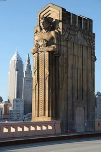 Art Deco bridge in Cleveland, USA -- Curated by: Ecora Engineering & Resource Group   579 Lawrence Avenue Kelowna BC v1y 6l8   250-469-9757