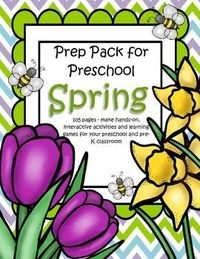 This is a comprehensive set of printables with a SPRING theme - make hands-on, interactive activities and learning games for your preschool and pre-K classroom. Engaging graphics, most activities are developmentally appropriate for ages 3 - 5, and SPED. 1...