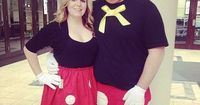 Minnie and Mickey: For the classic Disney couple. What you need to do: Wear matching black and red tops and bottoms. To make the Mickey Mouse gloves, print out this traceable paper. Source: Instagram user kristenboos
