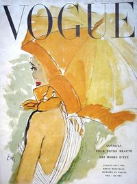 Vogue France, 1950 Art by Carl Eric Erickson