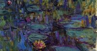 Water-Lilies 8, 1914-1917, Claude Monet. Sometimes it is good to remember that even the greats had messy brushstokes and muddy colors.