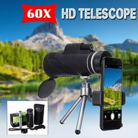 40x60 HD Monocular Zoom Military Hunting Night Vision Telescope / Tripod Phone Clip