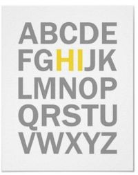 HI alphabet...site includes lots of other types of alphabet posters