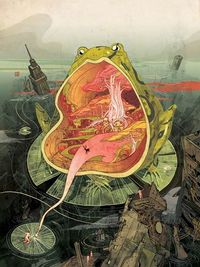 Victo Ngai is a NY based illustrator from Hong Kong. She graduated from Rhode Island School of Design. Her client list includes The New Yorker, The New York Tim