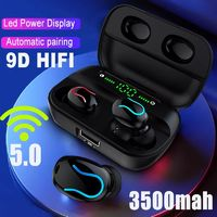 Wireless Stereo bluetooth 5.0 TWS Earphone Dual Digital Display Sports Headphones for Xiaomi Huawei