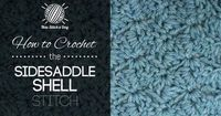 How to Crochet the Sidesaddle Shell Stitch. this website has great videos for really cute stitches!